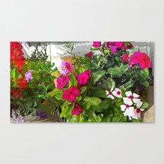 Mixed Annuals Canvas Print