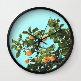 Summer Orange Tree Wall Clock