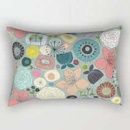 oriental blooms Rectangular Pillow