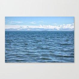 Voilier Blanc Canvas Print