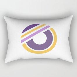 Circle of life 2 - geometric minimal Rectangular Pillow