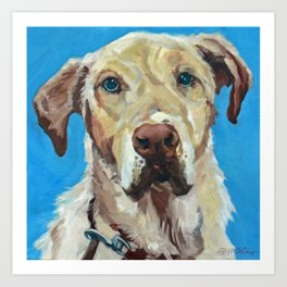 Golden Labrador retriever Art Print