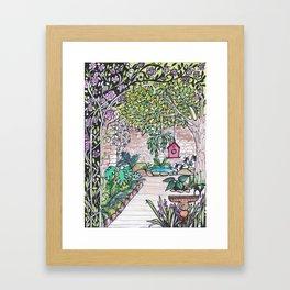 Val's Beautiful Garden Framed Art Print