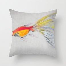 Goldfish Pond (close up#1) Throw Pillow