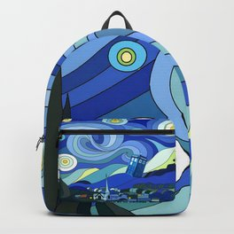 Tardis Art Starry Night Backpack