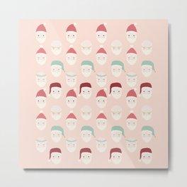 Santas - Blush Metal Print
