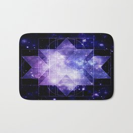 galaxy sacred Geometry Bath Mat