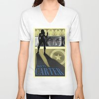 agent carter V-neck T-shirts featuring Agent Carter Pop art by rnlaing