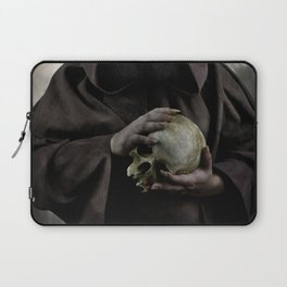 Holding a male skull Laptop Sleeve