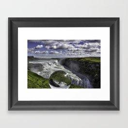 Gulfoss in Crystal Ball 1 Framed Art Print