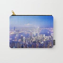 Panoramic image of Hong Kong at dusk Carry-All Pouch