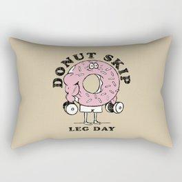 Donut skip leg day Rectangular Pillow