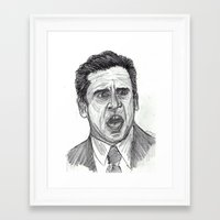 michael scott Framed Art Prints featuring Michael Scott by jamestomgray