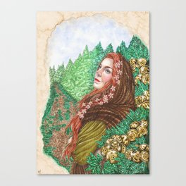 Iduna and the golden apples Canvas Print