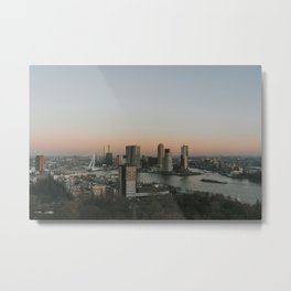 A view over Rotterdam  Metal Print