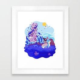 Tiny Worlds - Cinnabar Island Framed Art Print