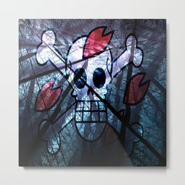 "Flag Chopper ""One Piece"" Metal Print"