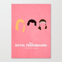 the royal tenenbaums Canvas Prints featuring The Royal Tenenbaums by Chay Lazaro