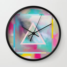 Rose Triangle Manifestation Wall Clock