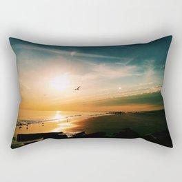 Winter Ocean Sunset Rectangular Pillow