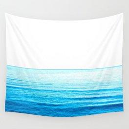 Blue Ocean Illustration Wall Tapestry