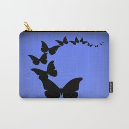 Migrating Black Butterflies Evening Blue Sky Carry-All Pouch