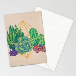 Geometric Terrarium 3 Acrylic on Wood Painting Stationery Cards