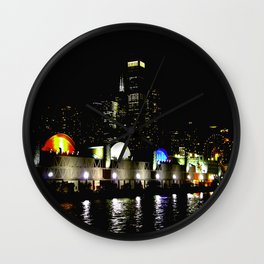 Navy Pier in Living Color: View from the Lake (Chicago Architecture Collection) Wall Clock