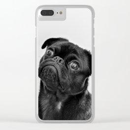 Pug Love II Clear iPhone Case