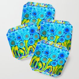 Field of Poppies with Border All Around Belize Coaster