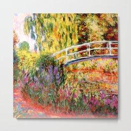 "Claude Monet ""Water lily pond, water irises"" Metal Print"