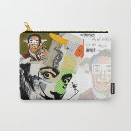 Salvador Dali Colorful Mixed Media Collage Art Carry-All Pouch
