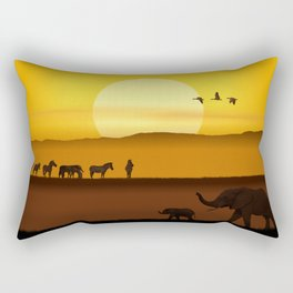Morning in the African savannah Rectangular Pillow