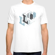 The Exploded Alphabet / L MEDIUM White Mens Fitted Tee