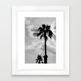 Palm Trees In Black And White Framed Art Print