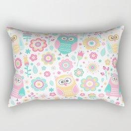 Pretty Pastel Owls Girls Animal Pattern Rectangular Pillow