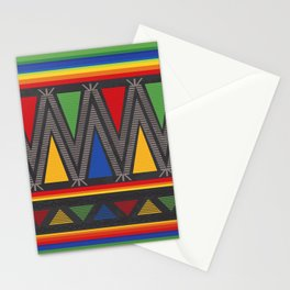 Mexican Geometric Pattern Stationery Cards