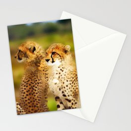 Pair of Cheetahs Stationery Cards