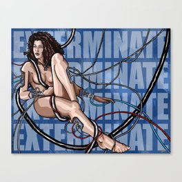 EXTERMINATE ft. Martina Polini Canvas Print