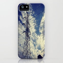 Heavenly spring sky in an industrial world iPhone Case