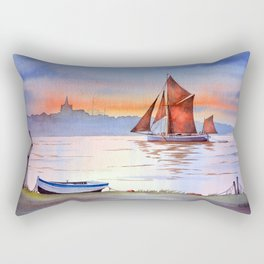 Thames Barge At Maldon England Rectangular Pillow