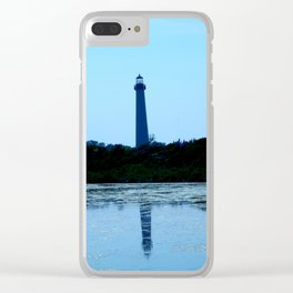 cape may lighthouse Clear iPhone Case