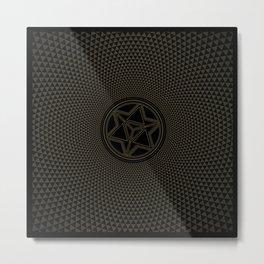 Merkaba-Earthtone1 Metal Print