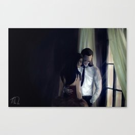 Loki x Sif Canvas Print