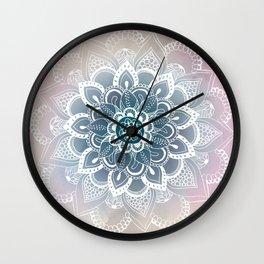 Winter Fountain Mandala Wall Clock