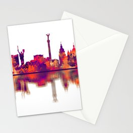 Kyiv Ukraine Skyline Stationery Cards