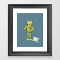 You are the cat's pajamas - blue Framed Art Print