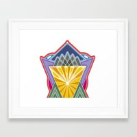 crown Framed Art Prints featuring Crown by Losal Jsk