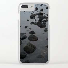 Mirrored Rocks Clear iPhone Case