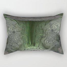 3D Fractal Green Cavern Rectangular Pillow